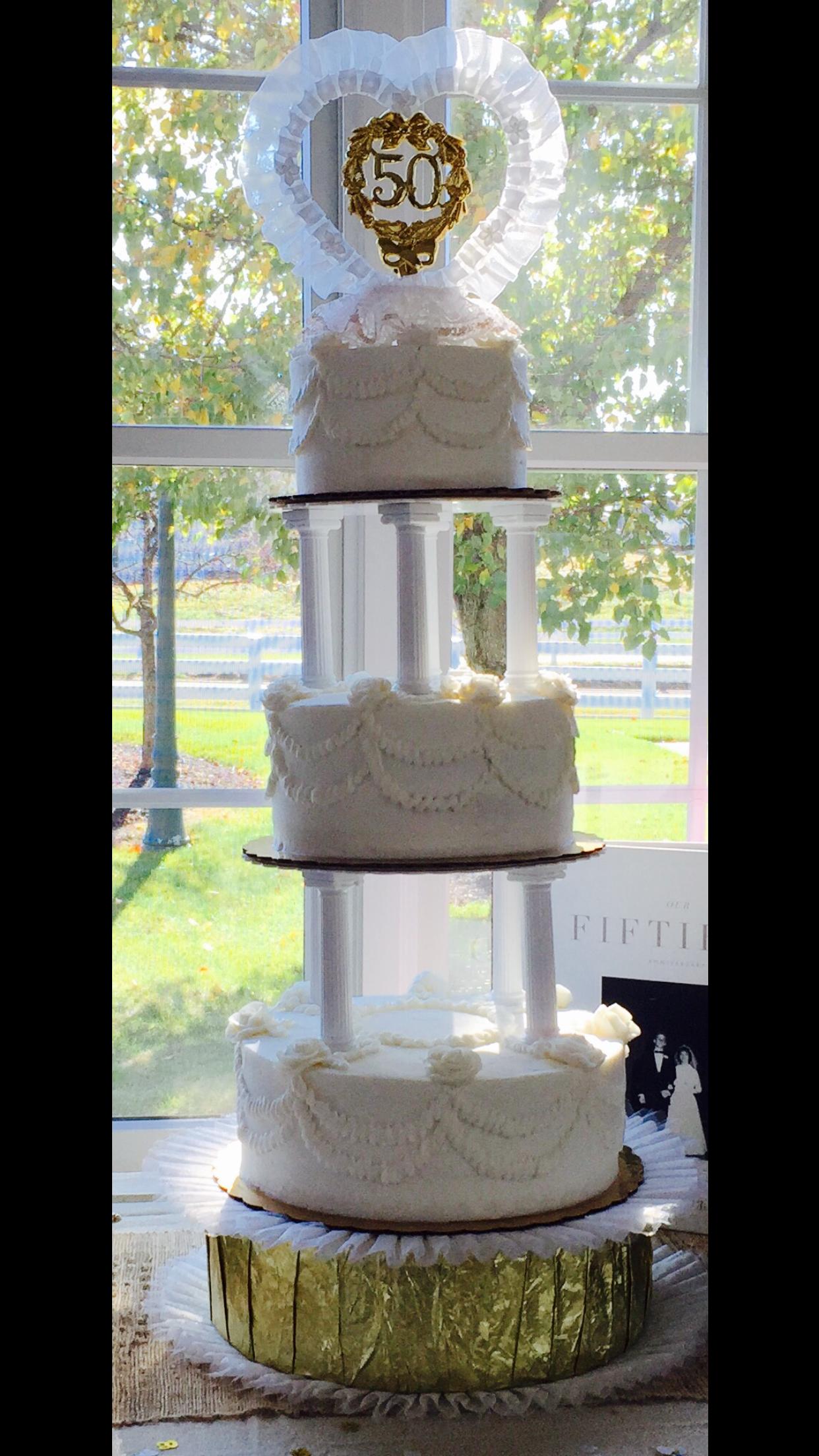 Anniversary Cake replica of original Wedding Cake