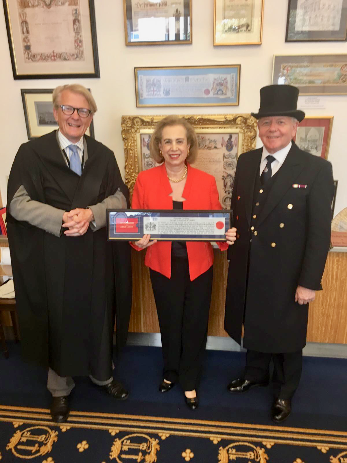 TASOULLA IS GRANTED THE FREEDOM OF THE CITY OF LONDON