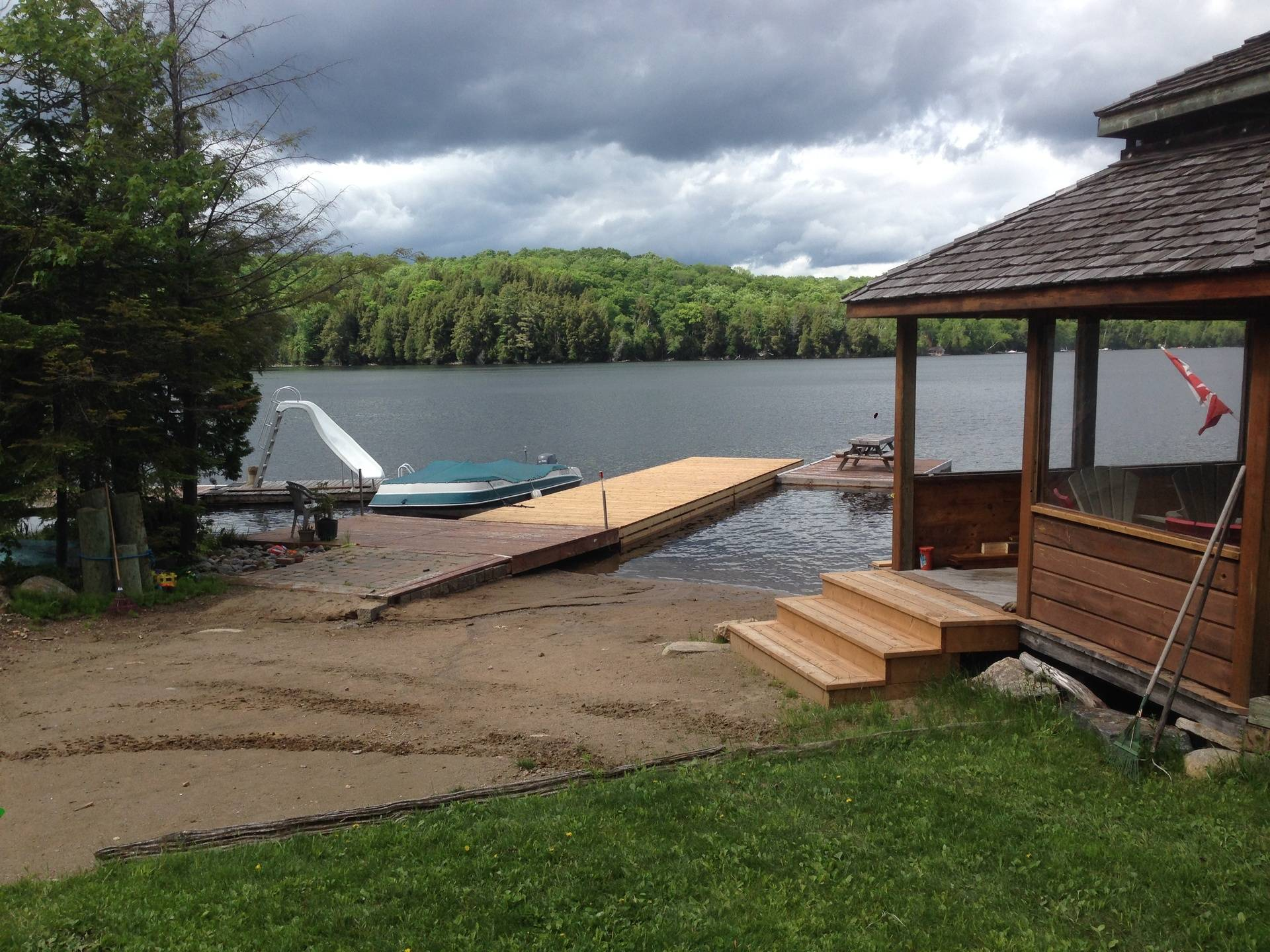 New dock added to existing landing
