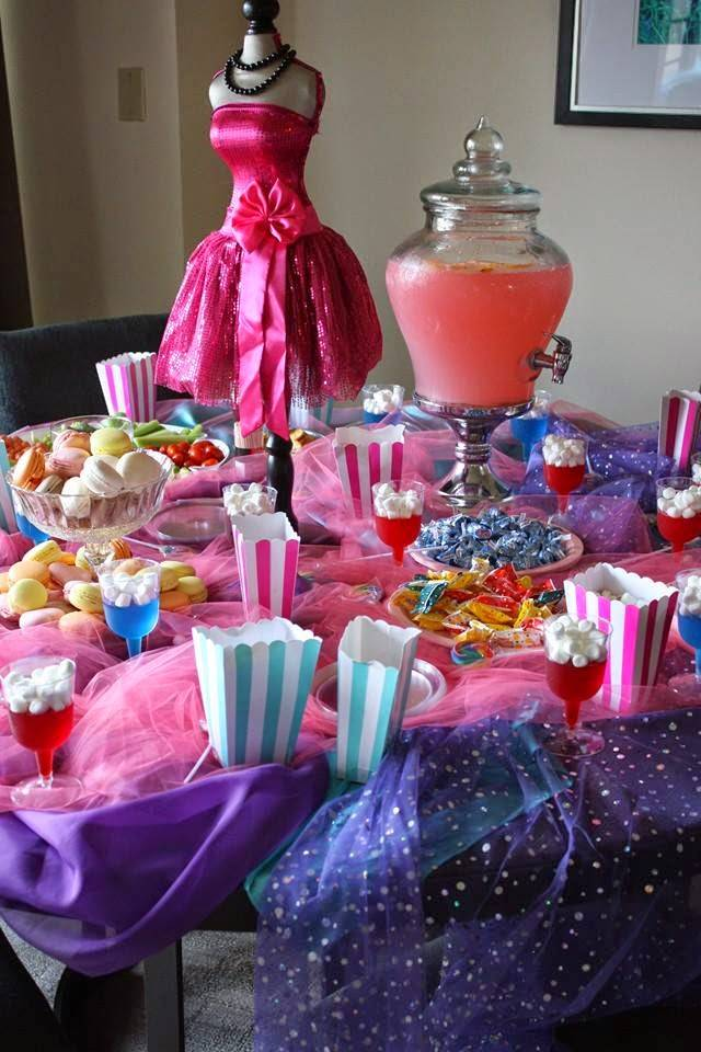 Candy bar for an Ultimate Diva party