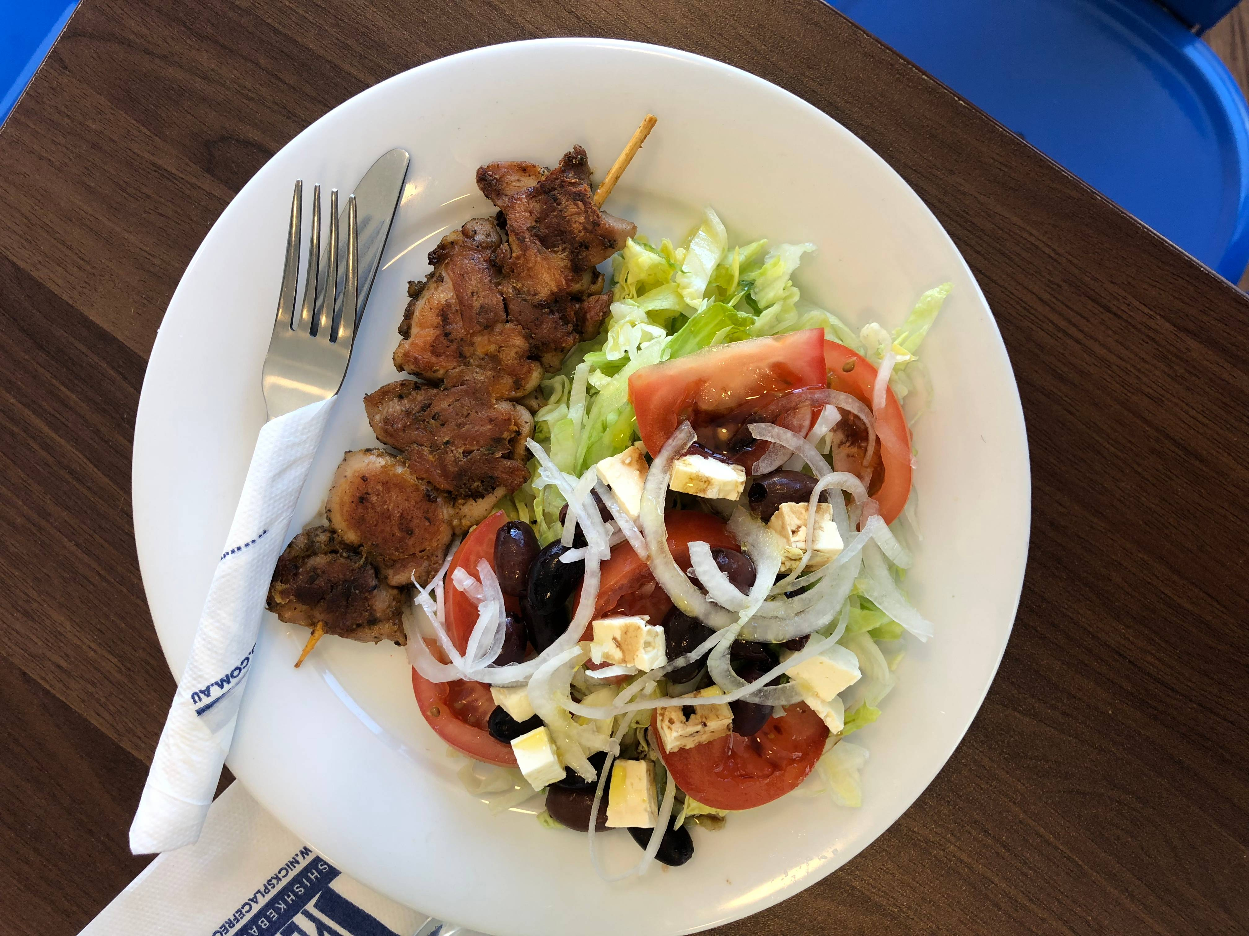 Greek Salad & Souvlaki