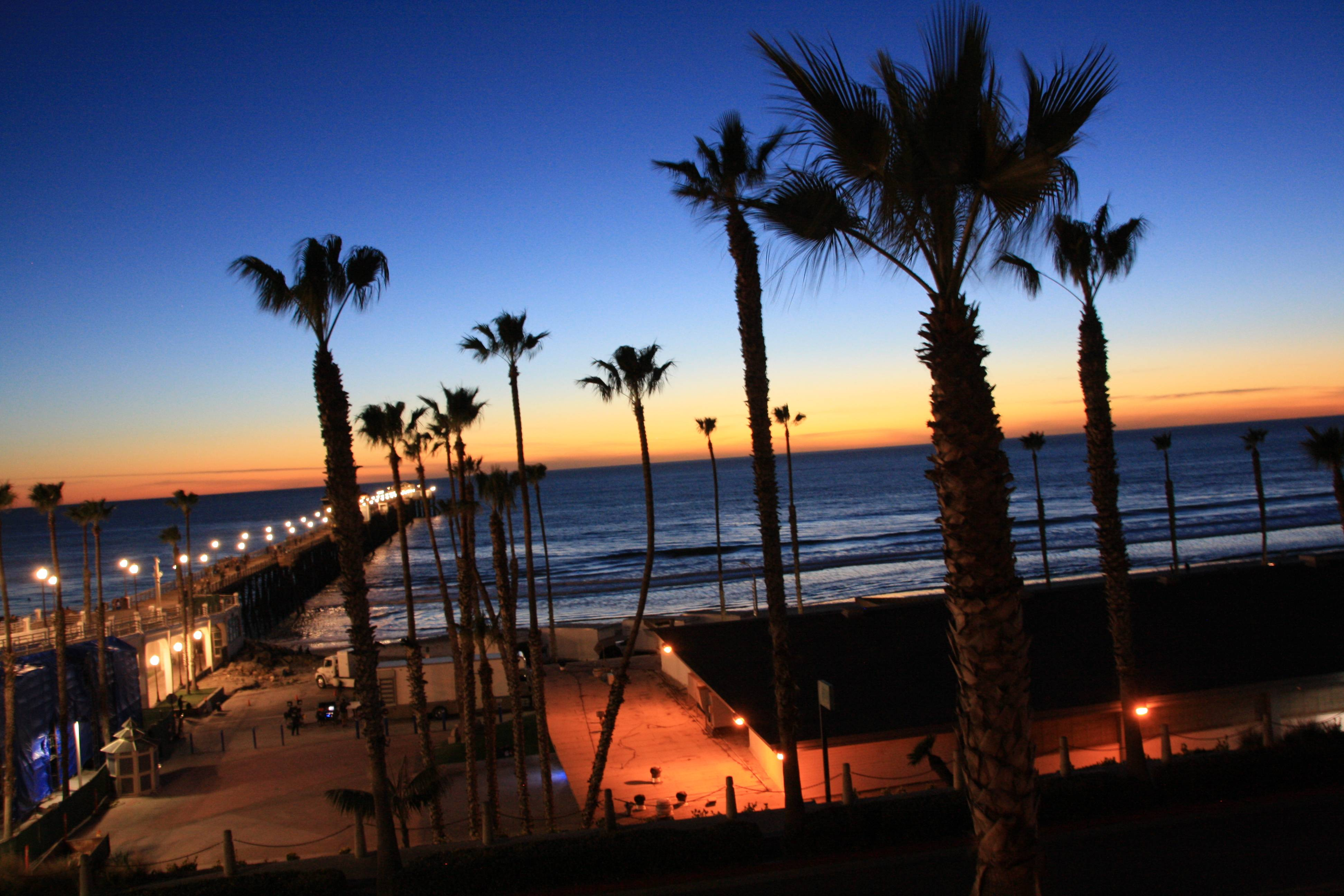 View of Oceanside Pier in Oceanside CA