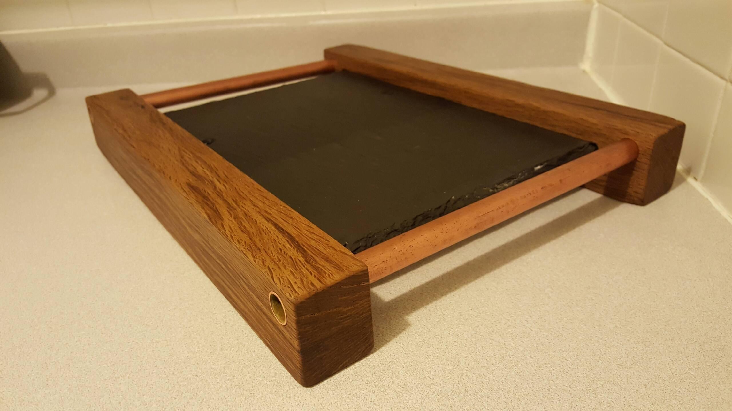 Slate, Copper and Live Oak Cheese Board