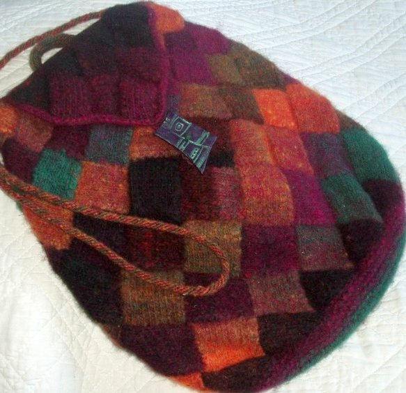 Entrelac Knitted Bag