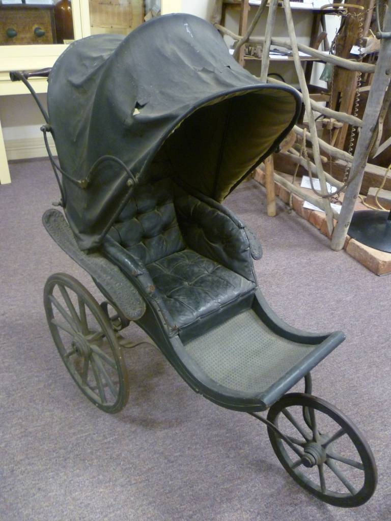 Rare three wheeled pram from the Angas family