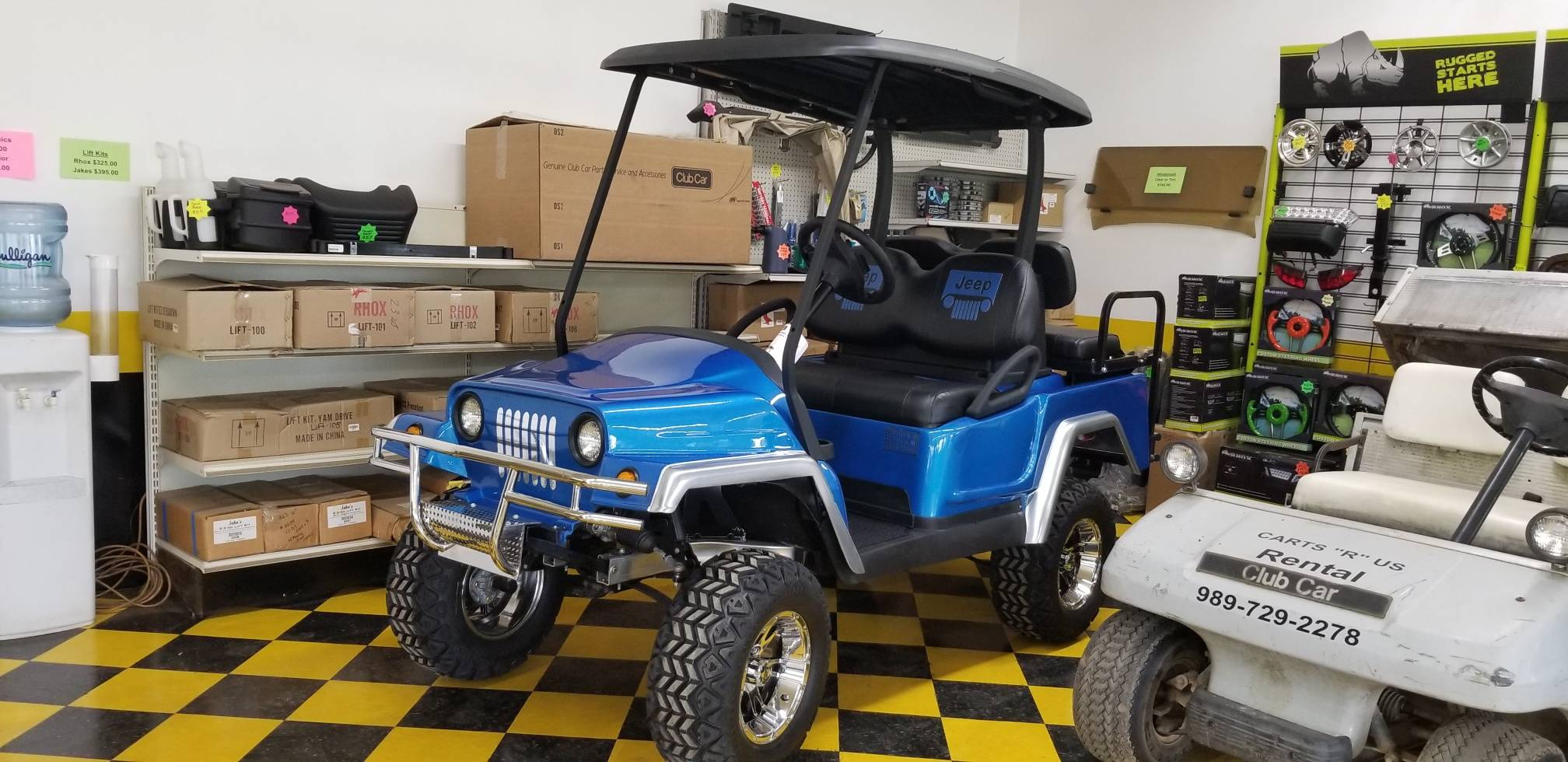 Club Car Precedent with Jeep Body