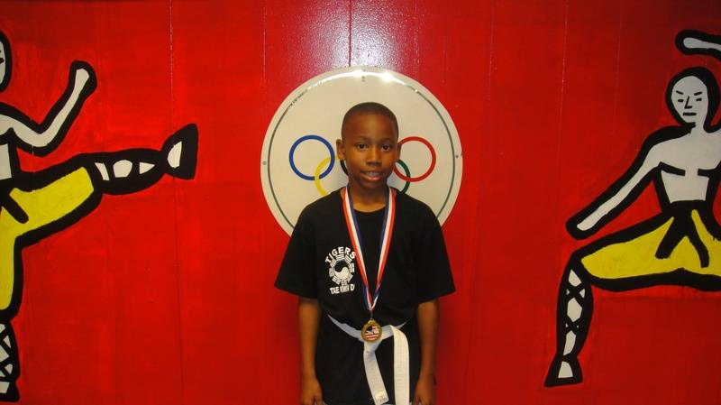 Marcus Cole won 1place in fighting only training for 1 month