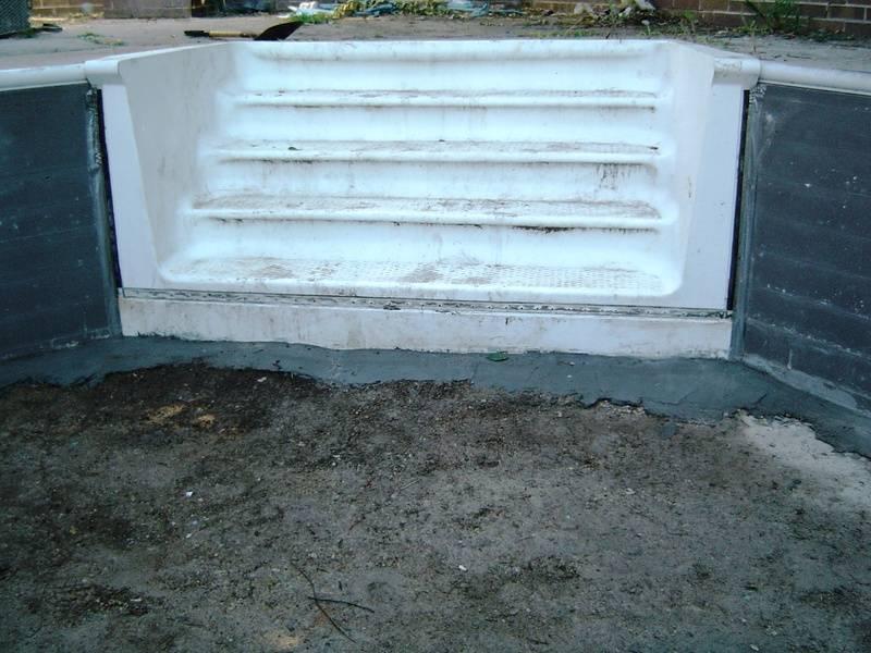 mortar pool steps in