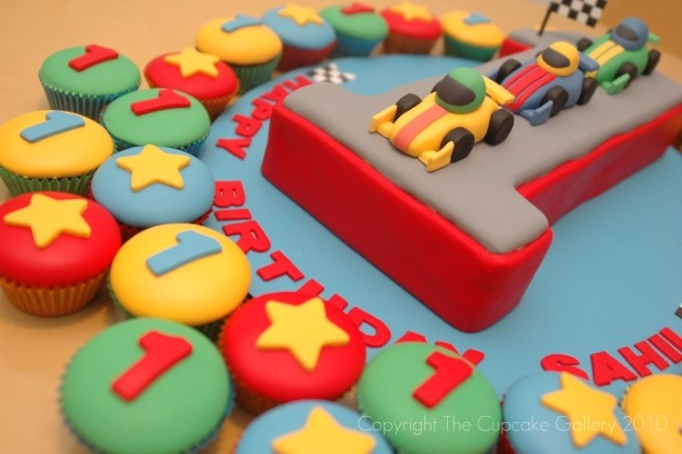 Race track number cake