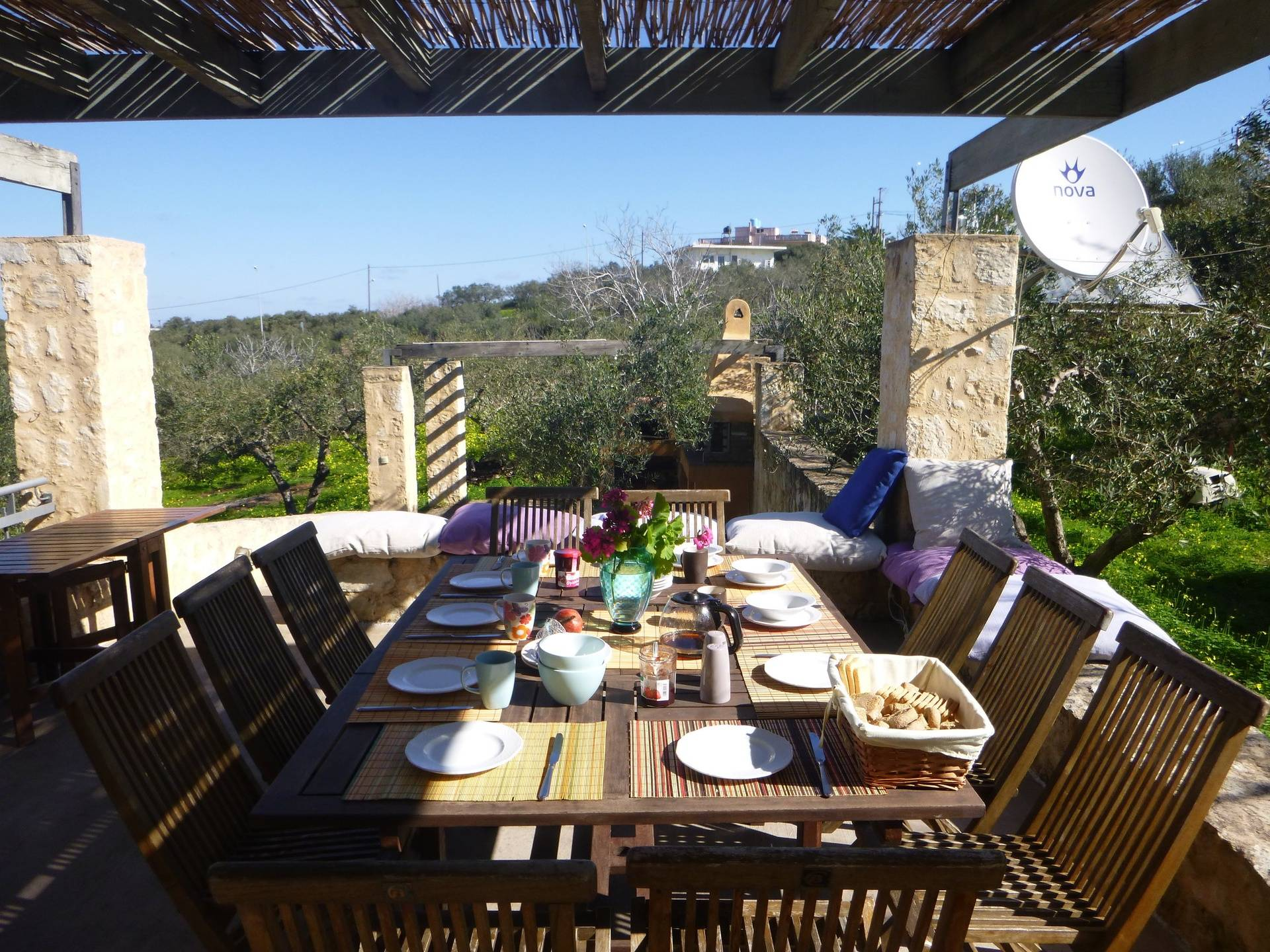 breakfast at the kitchen terrace
