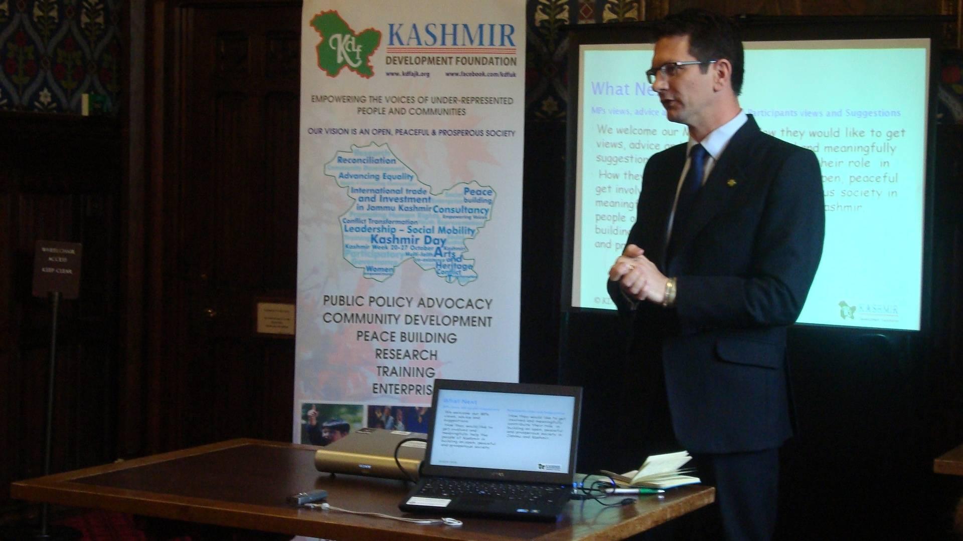 Steve Baker MP speaking up for Empowering Kashmiri Voices