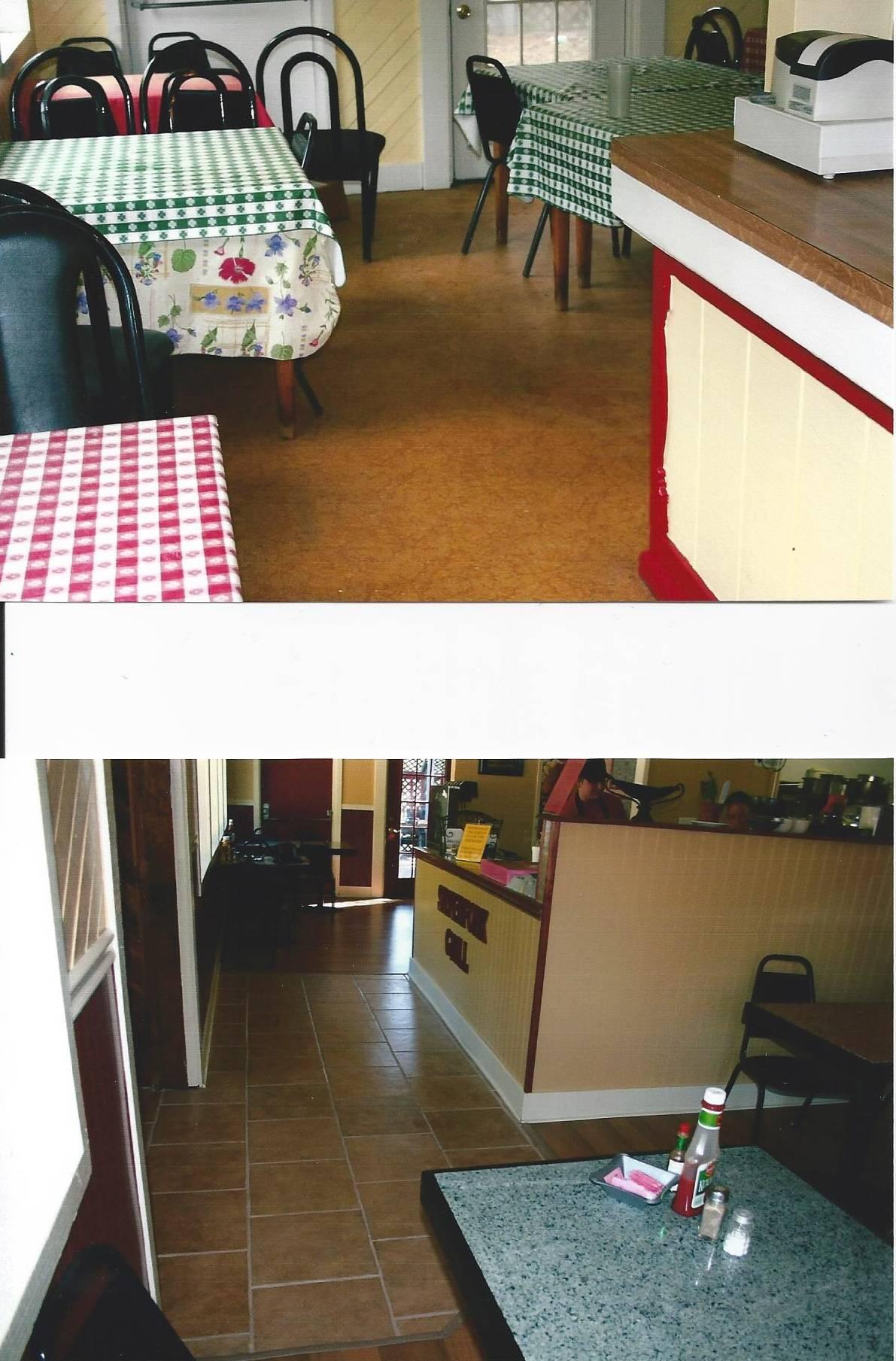 Inside Silver Fork Cafe BEFORE & AFTER.