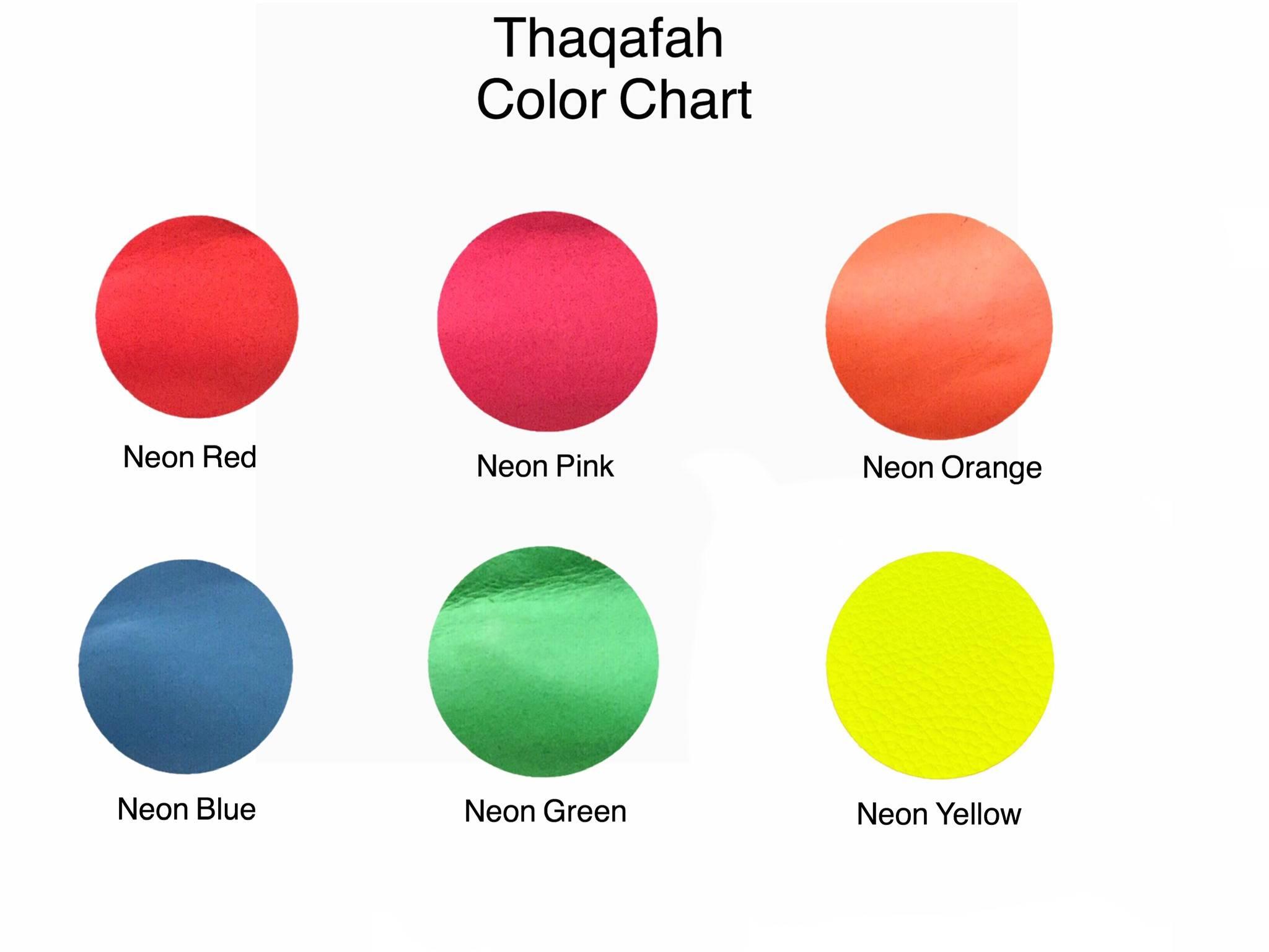 Thaqafah color chart