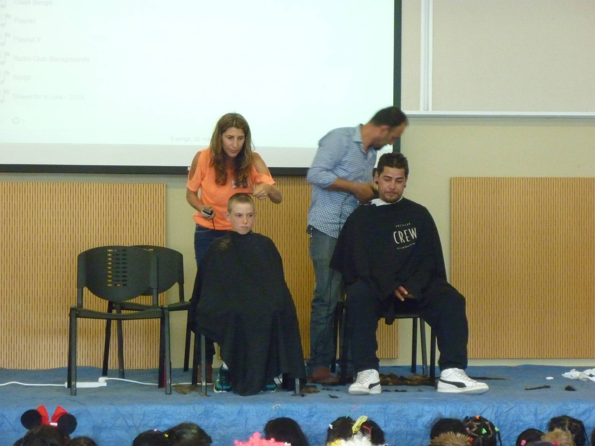 Charity head shave at Mission heights primary school
