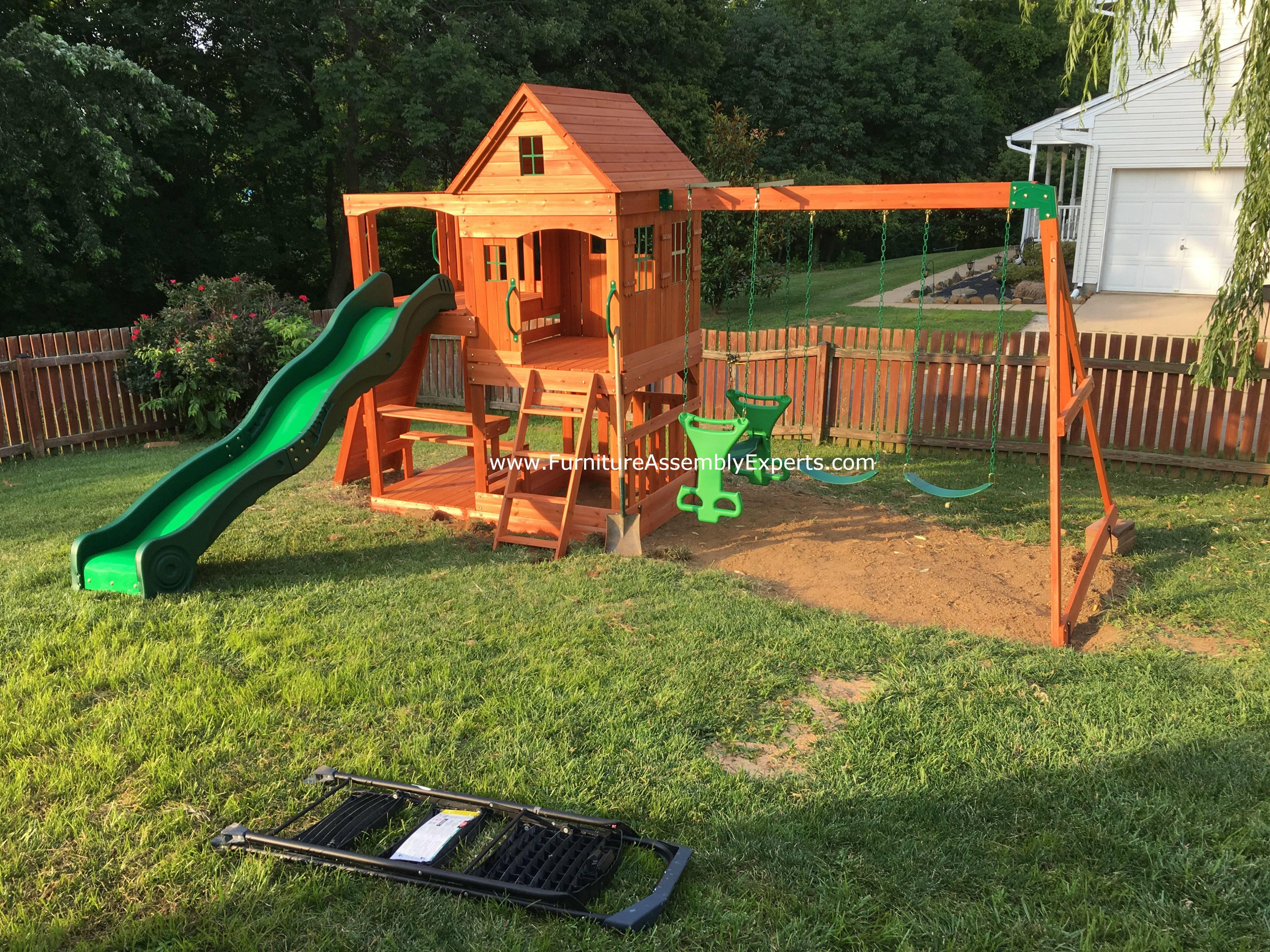 backyard discovery swing set assembly service in brambleton VA