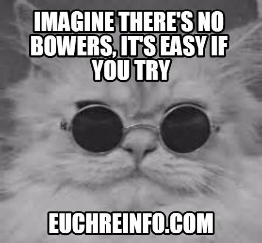Imagine there's no bowers. It's easy if you try.