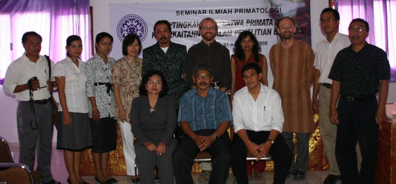 JB Leca, Charmalie Nahallage, and Mike Huffman during the Primatological Seminars at Udayana University, Bali, with our Balinese colleagues from the local Primate Research Center