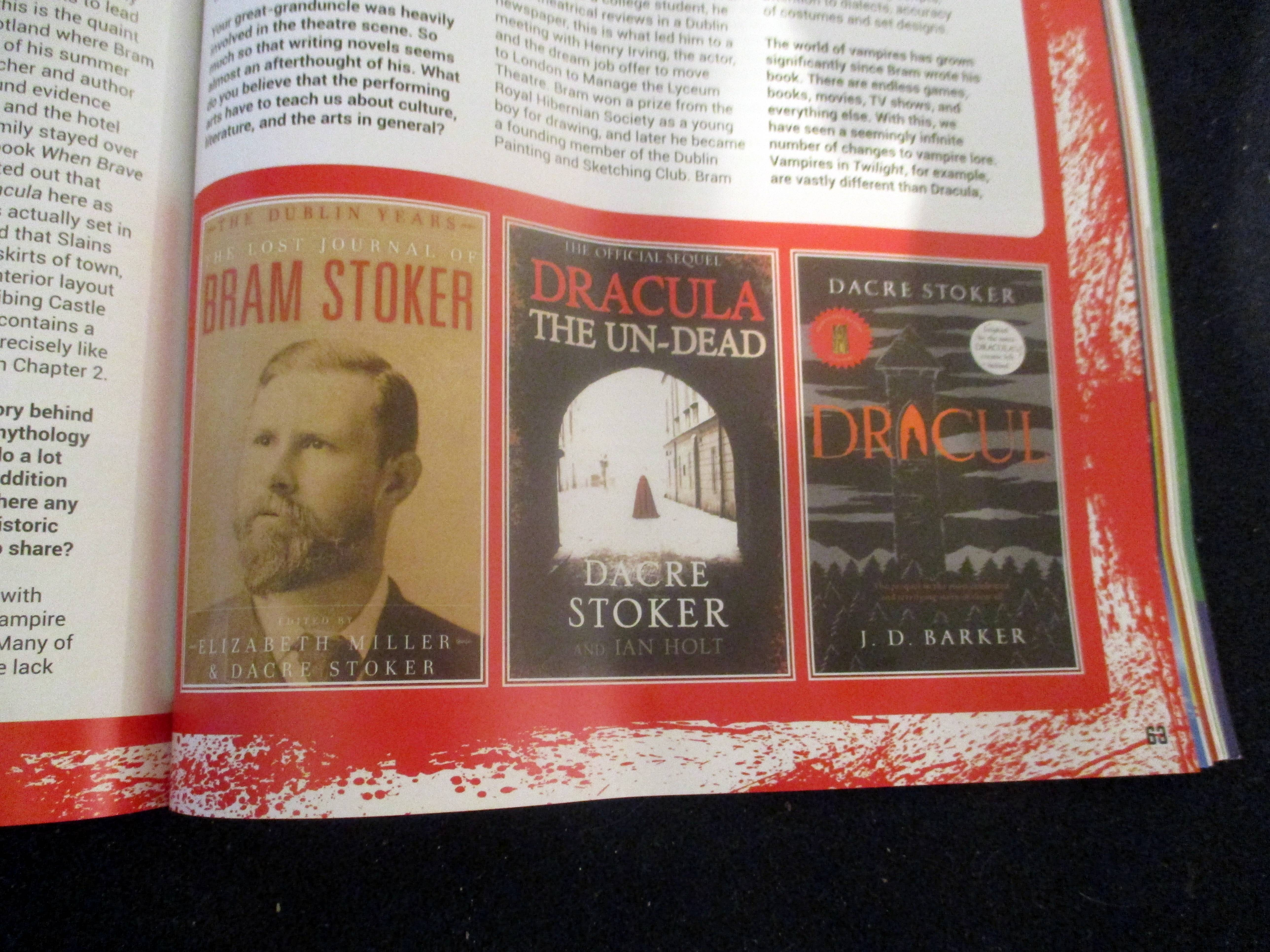 Graphic of Books by Dacre Stoker in The Blood is the Life in Starburst Magazine #475: The Mandalorian Collectors¿ Edition at The Wombatorium 2.0: A Capital Idea