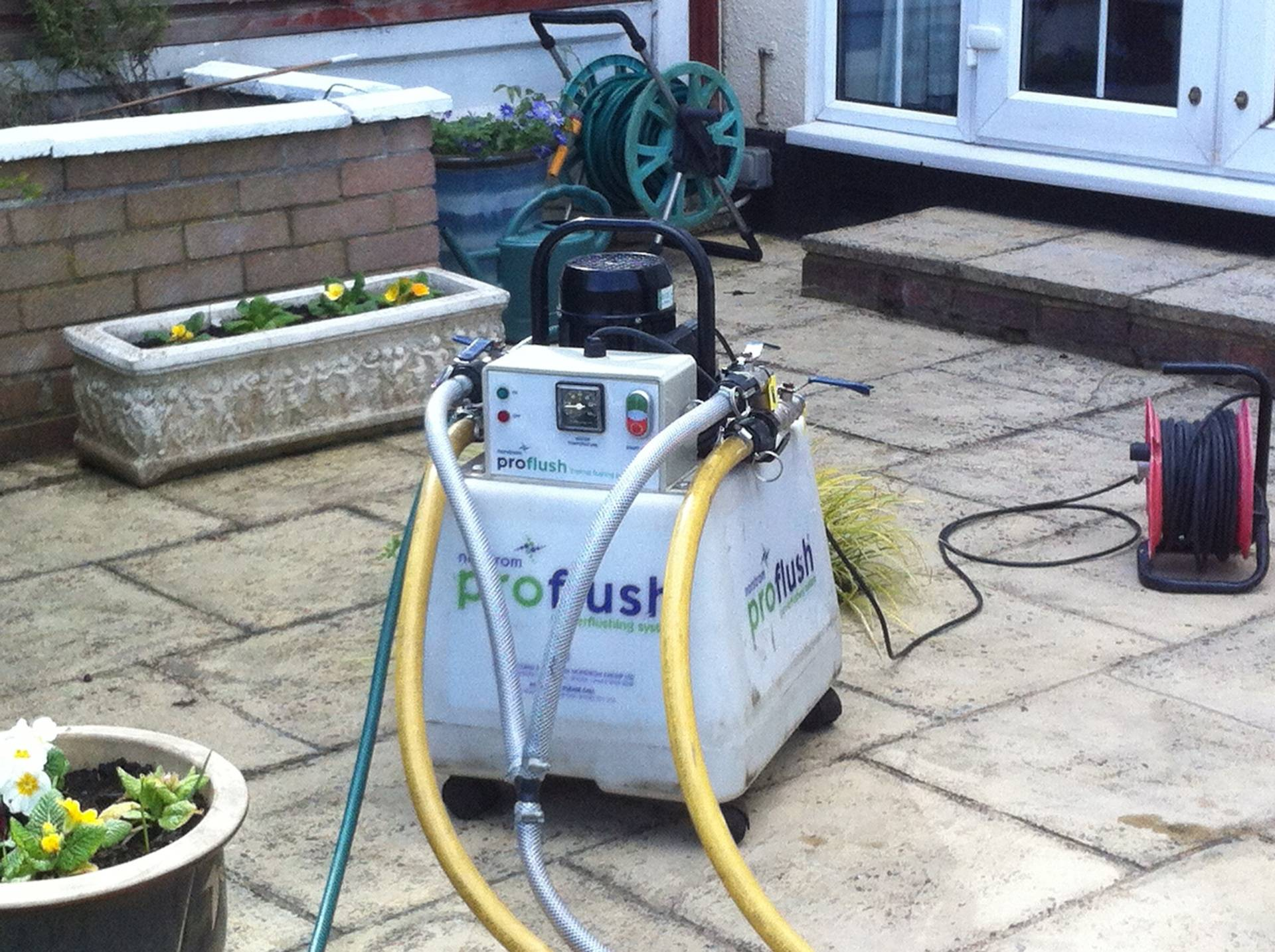 Our 'Norstrom Proflush Thermal Unit' being prepared.