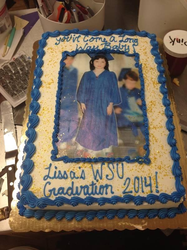 Graduation Cake With Edible Image