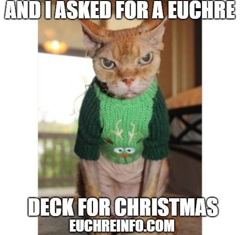 And I asked for a Euchre deck for Christmas.