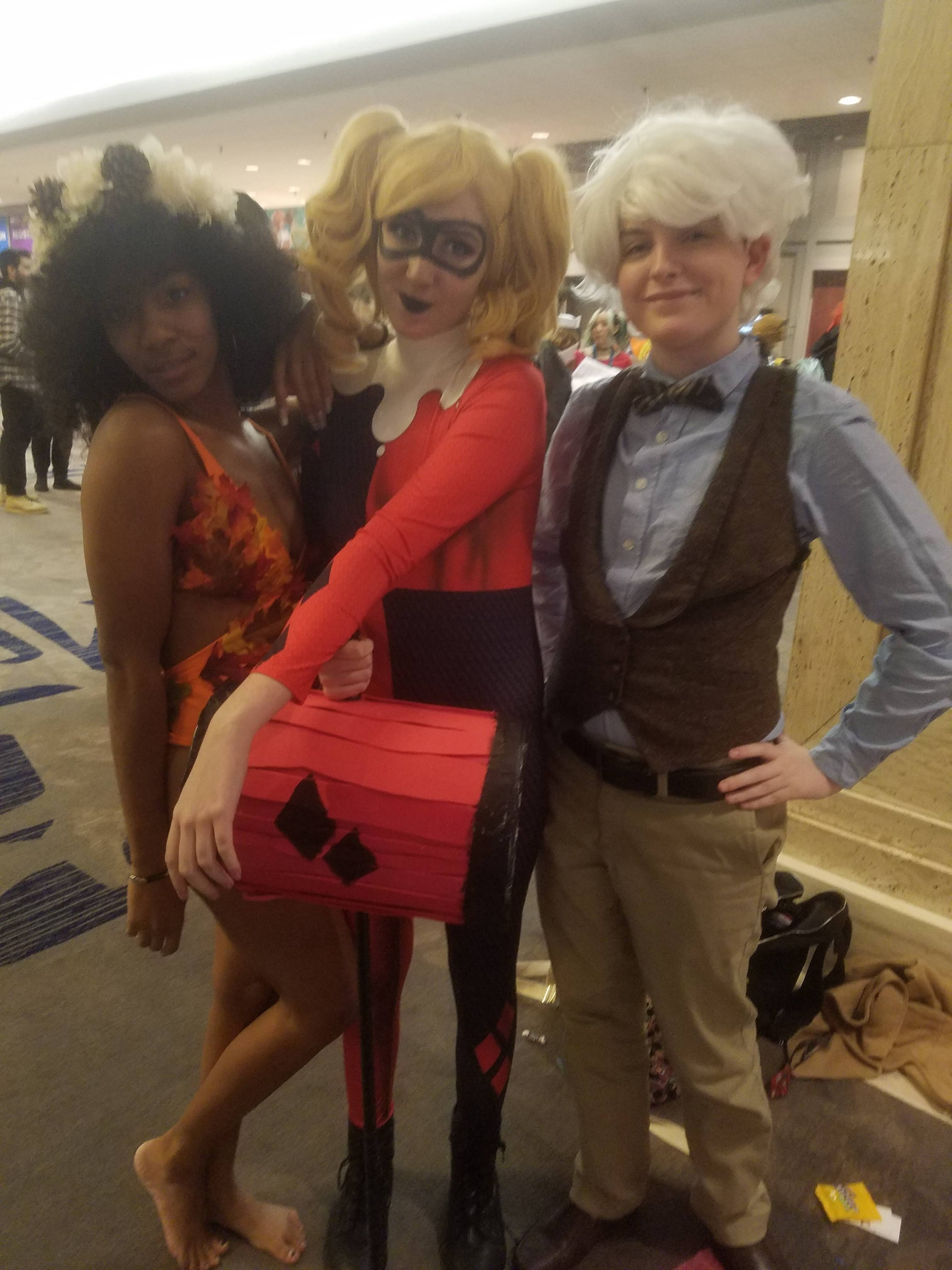 Autumn Poison Ivy, Harley Quinn, and Unknown