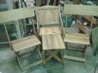 White oak Folding camp chairs