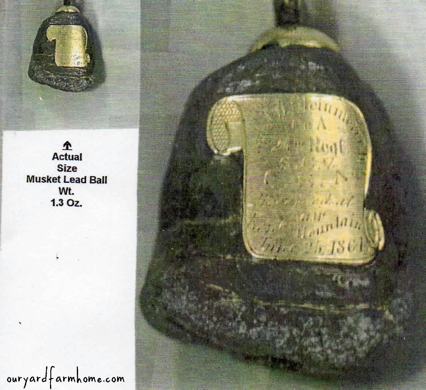 Civil War Musket Ball