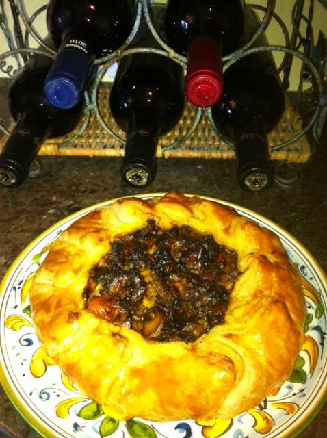 Galette with Puff Pastry and Slow Roasted Cherry Tomatoes