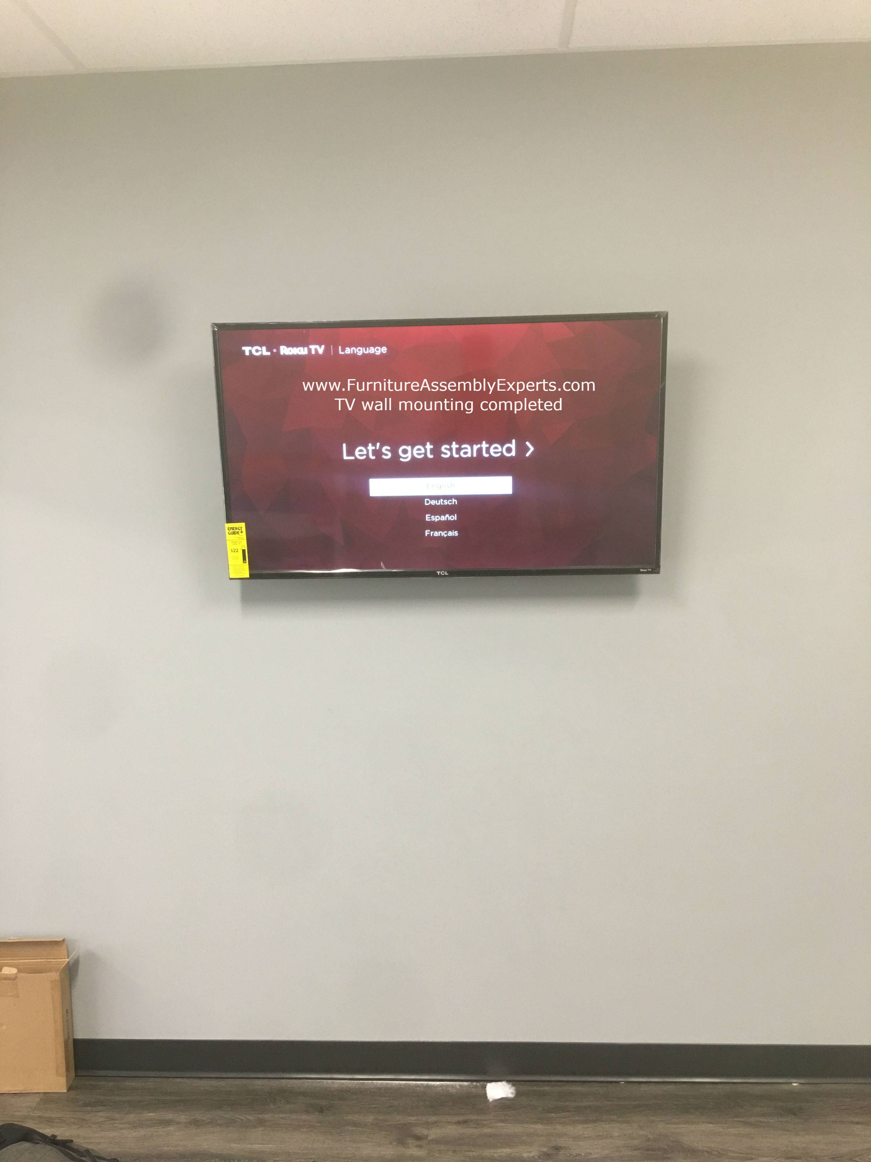 TV wall installation service in howard county MD