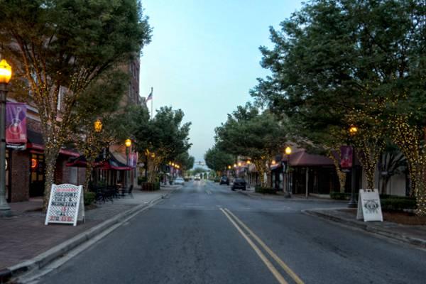 Evening on Main Street in Rock Hill, SC
