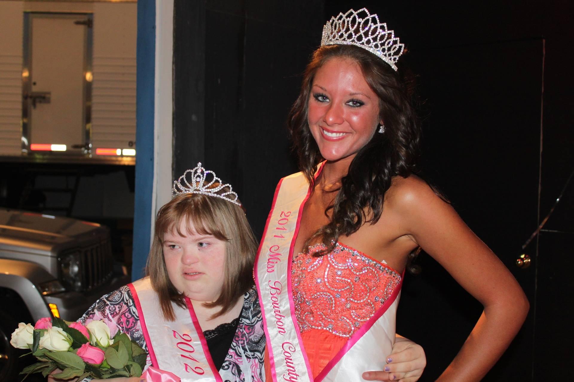 2011 Miss Bourbon County Megan Johnson and Deanna Sallee