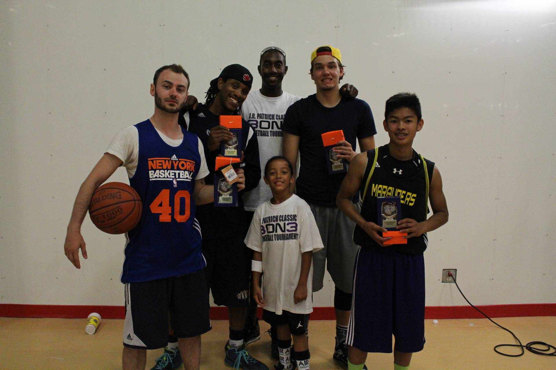 18 and Over and 18 and Under Slam Dunk and  3-Point Shootout Champs