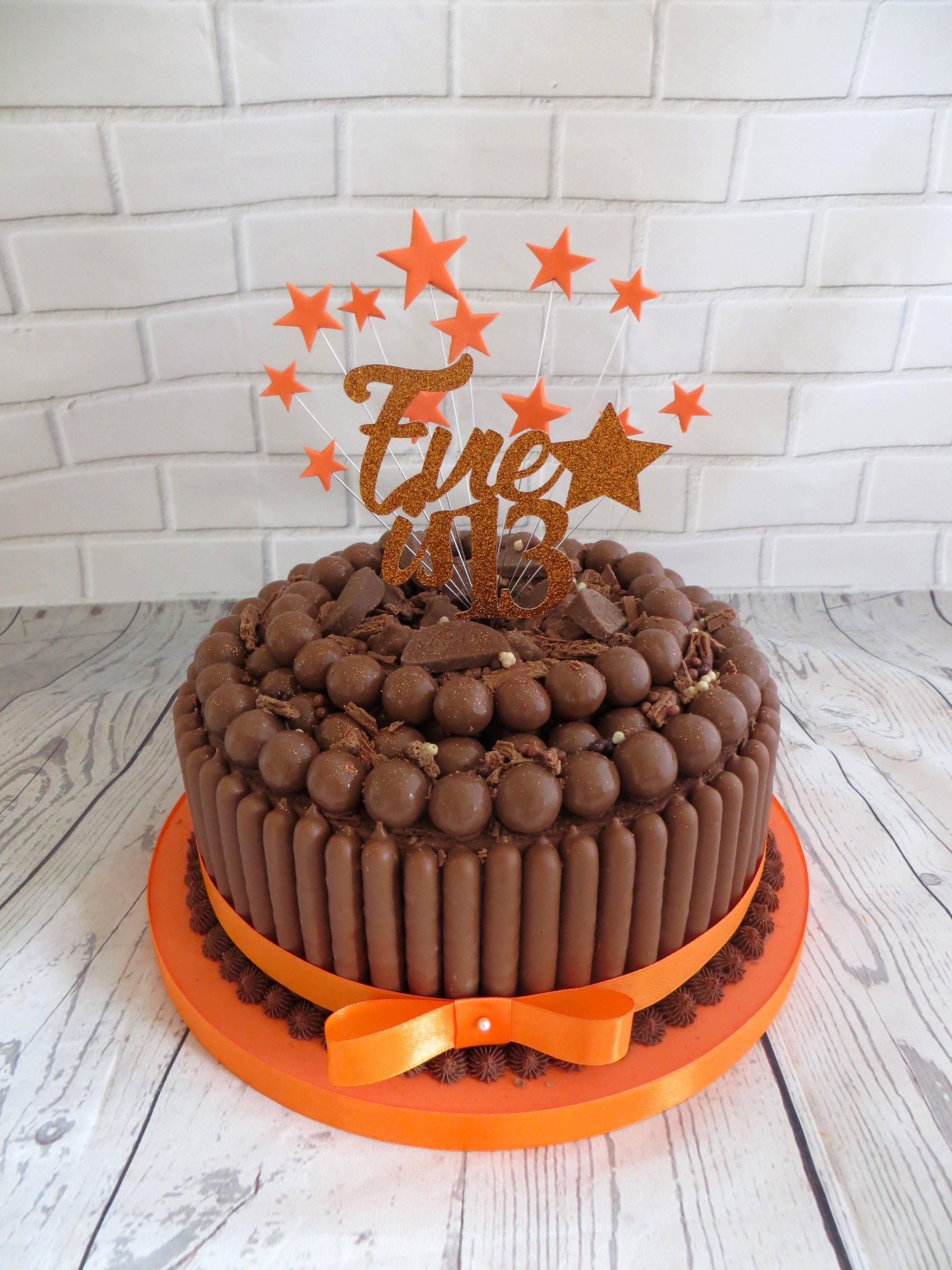 Orange malteser cake