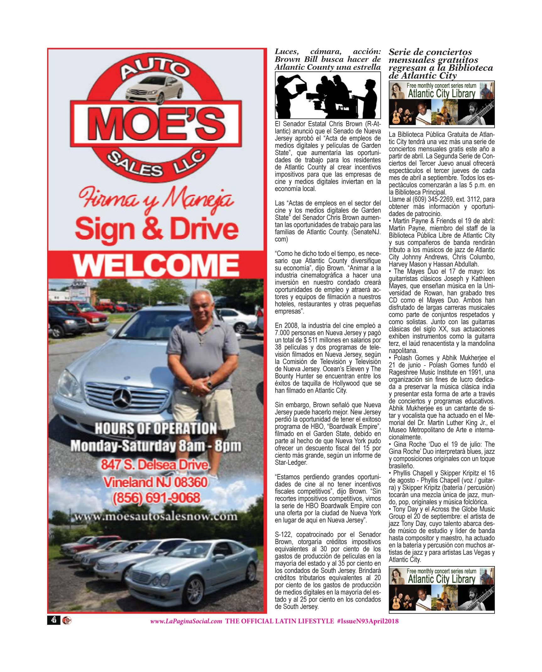 Moes Auto Sales, Chris Brown, Atlantic City Public Library