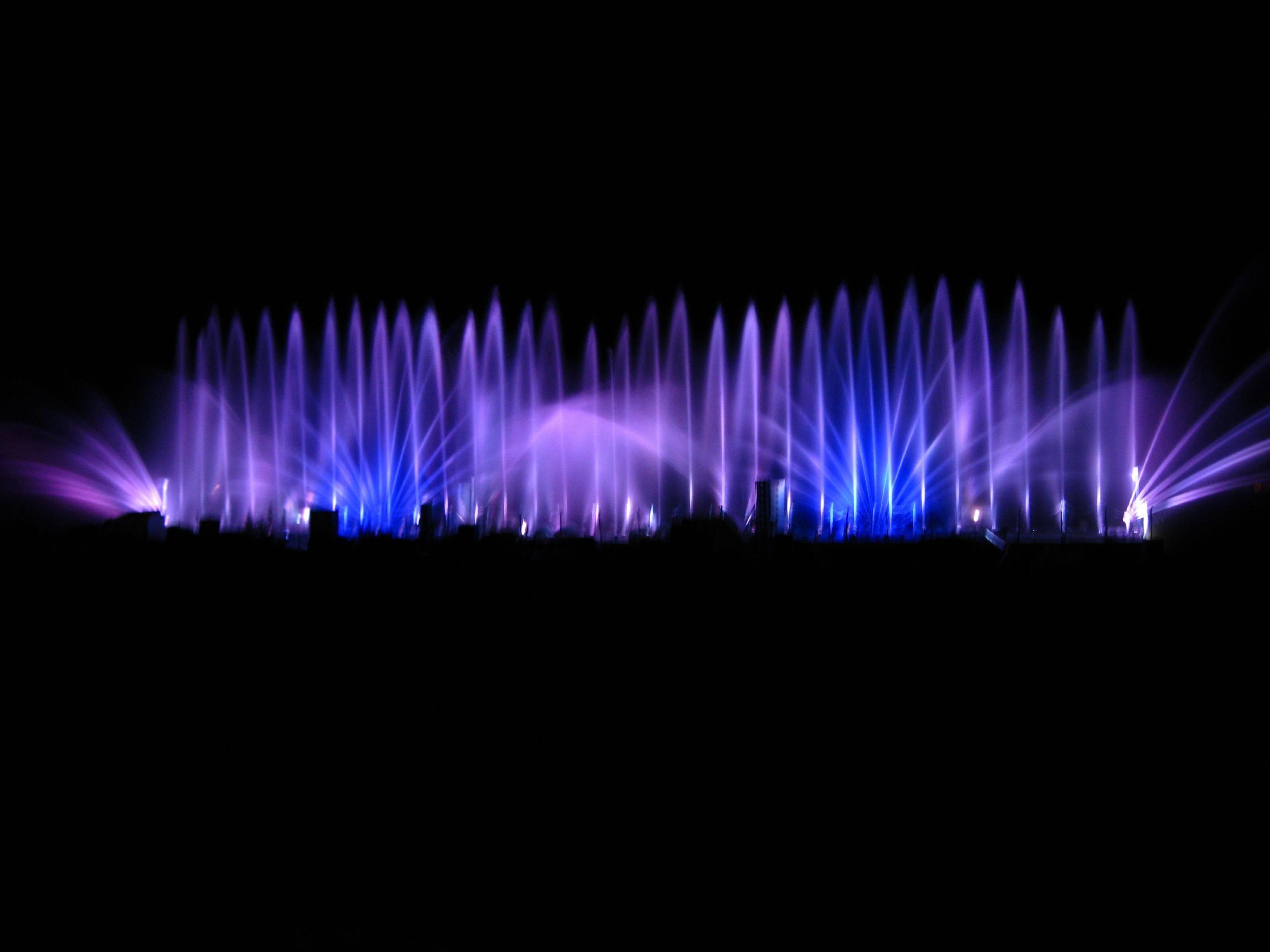 Blue and Purple Lights