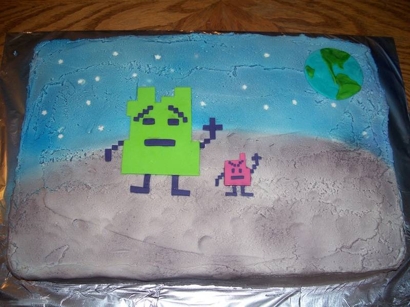 The Mooninites Cake