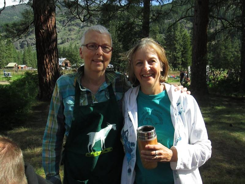Gay Northrup and Sue Roberts...Current and Past Pancake Breakfast Managers