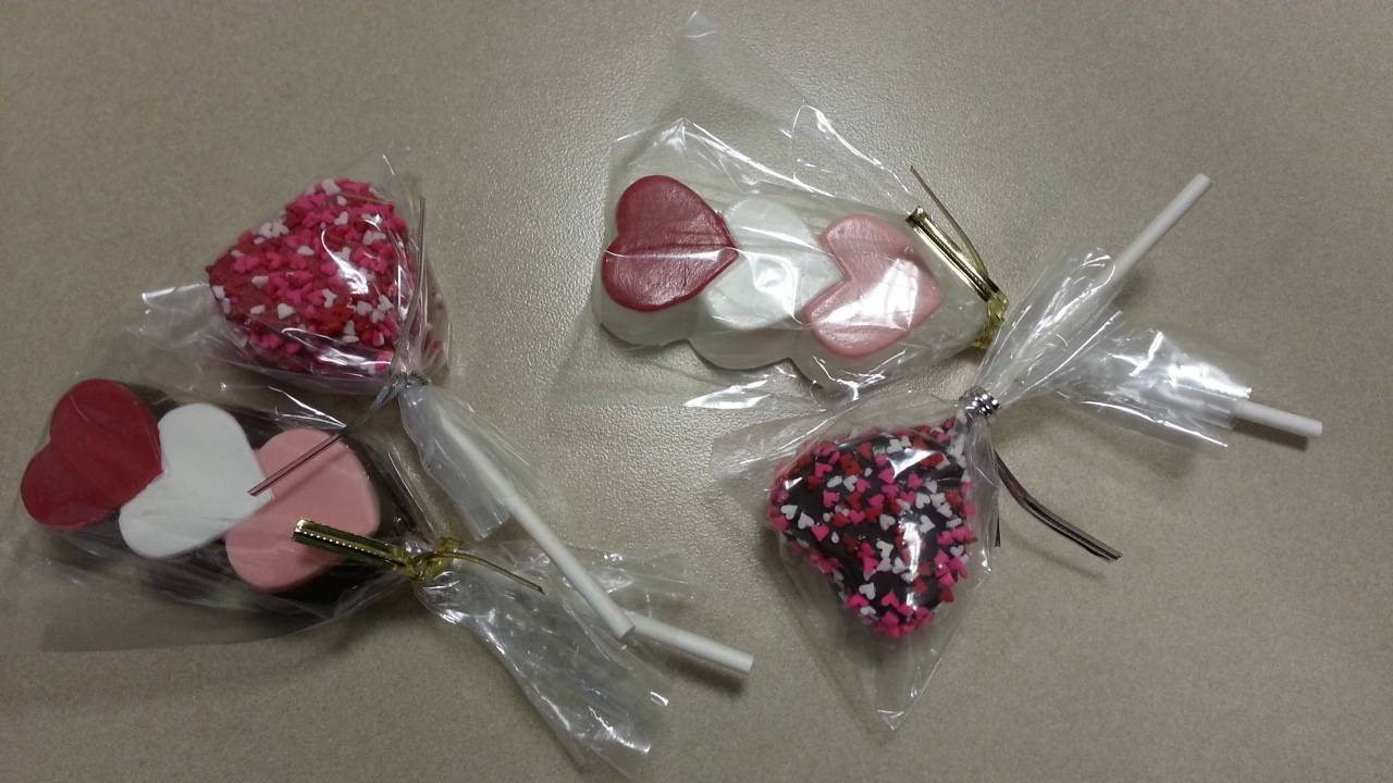 Valentine's Day Chocolates and Cake Pops