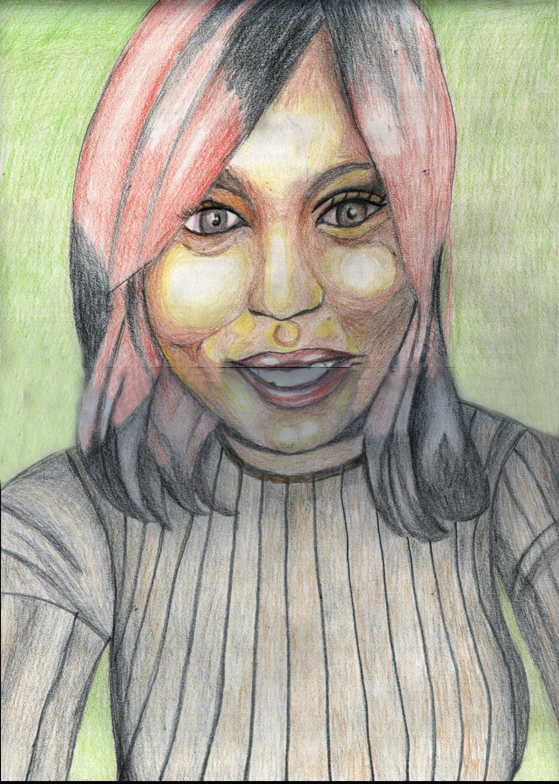 Olayemi coloured pencil drawing