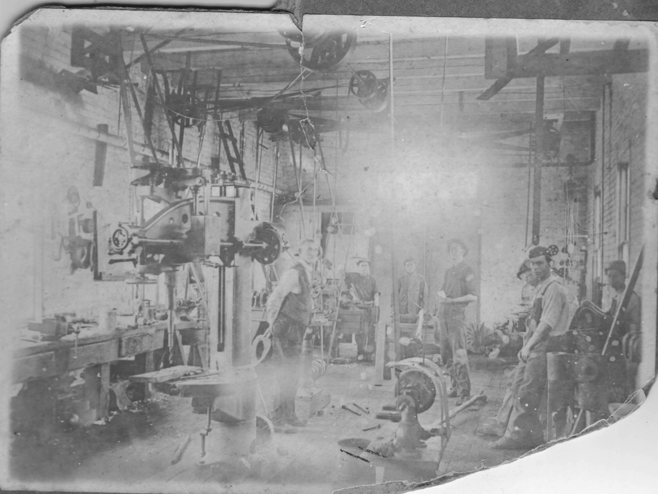Roper Lumber Company Shop - Fletcher Manning in Center - 1920's