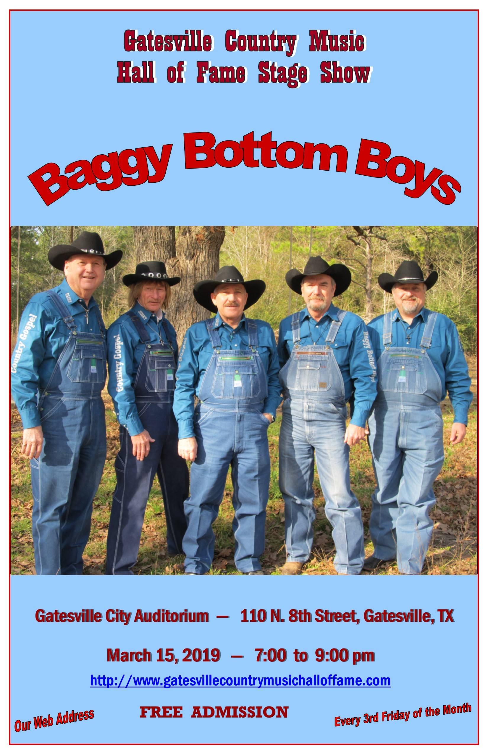 Baggy Bottom Boys, March 15, 2019