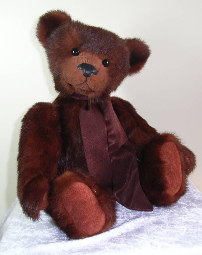 Heirloom bear vintage real fur