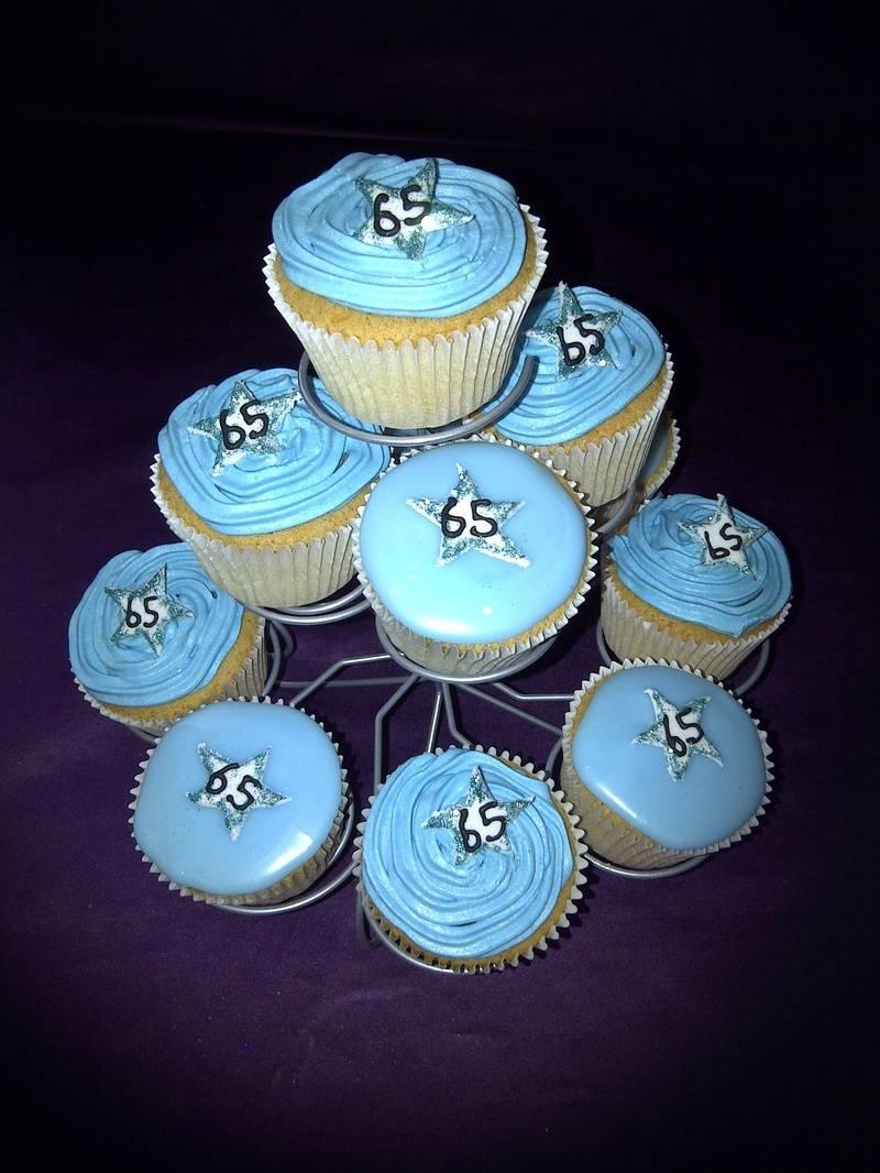 65th birthday cupcakes