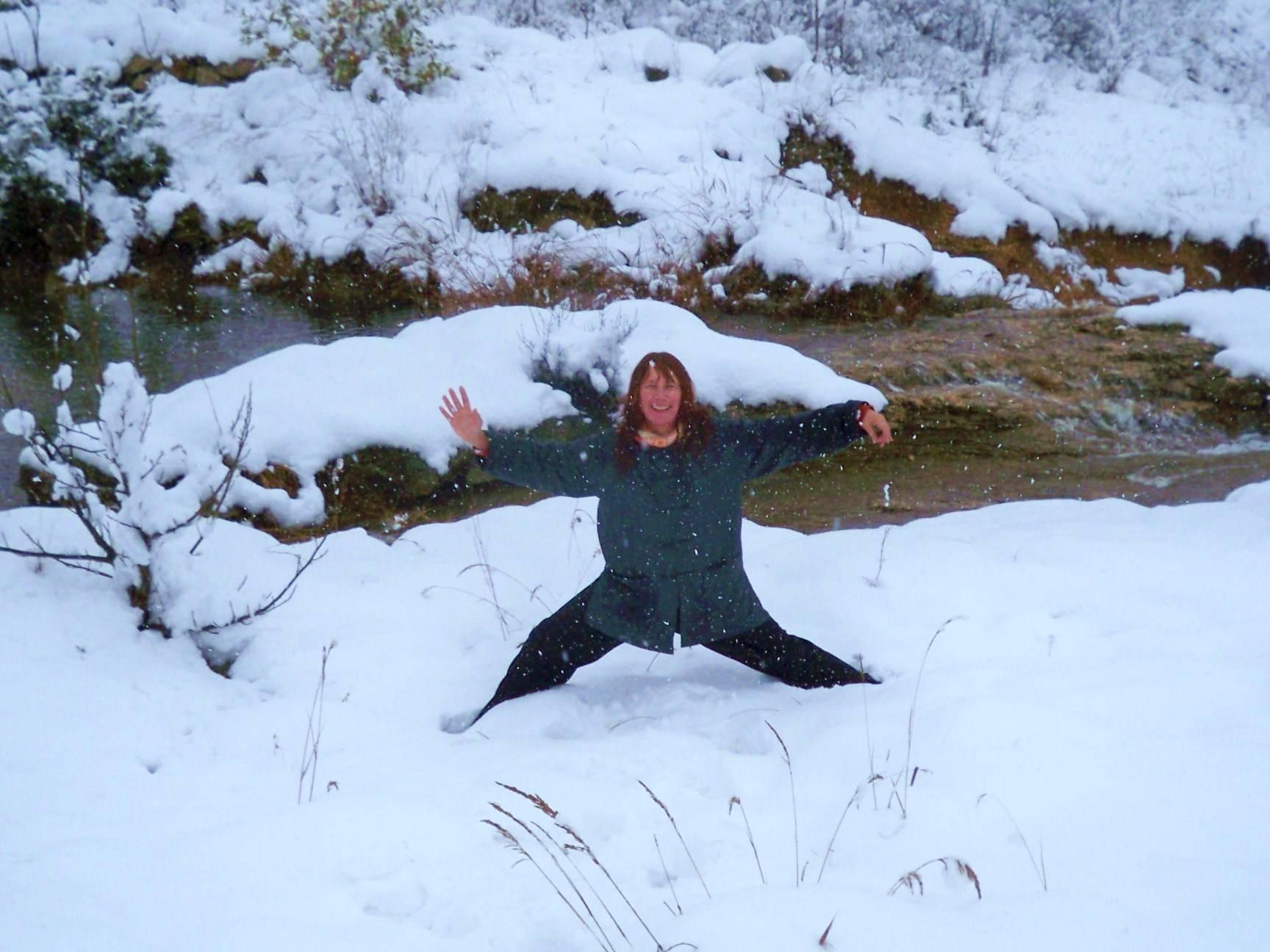 Tai Chi Practice in Winter