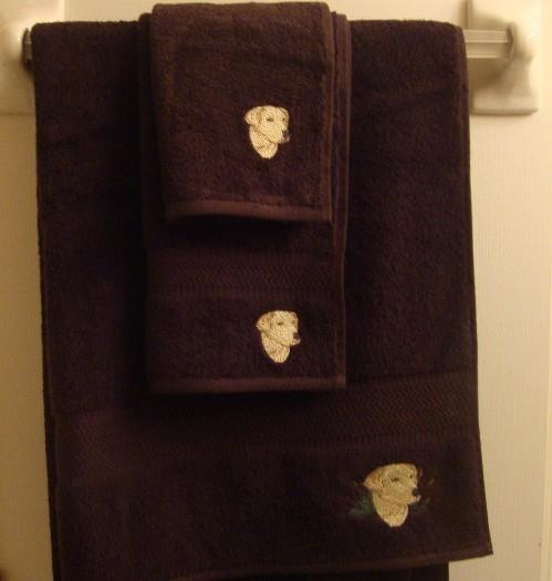 Lab Head dog towels (set)