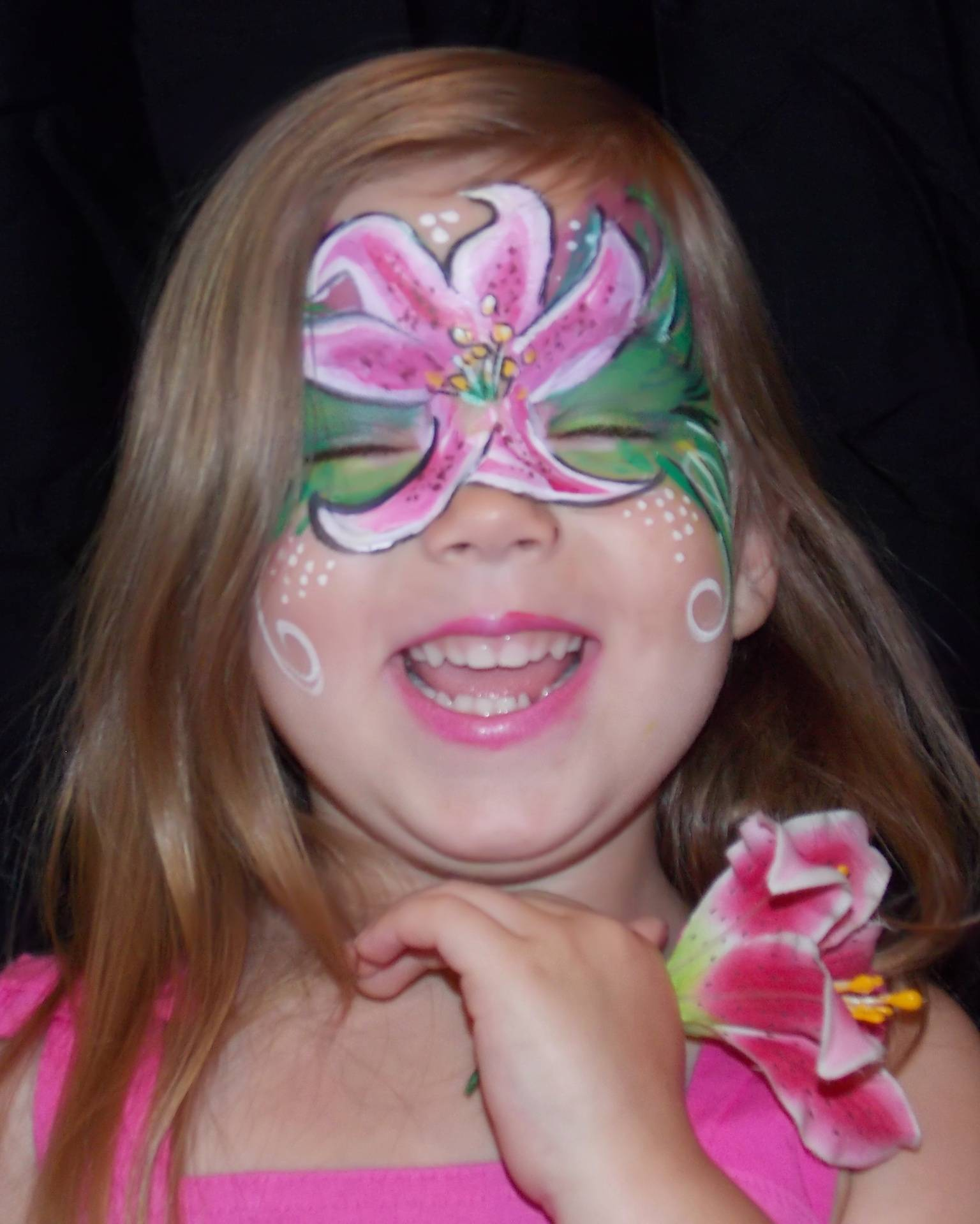 Lily Face Painting