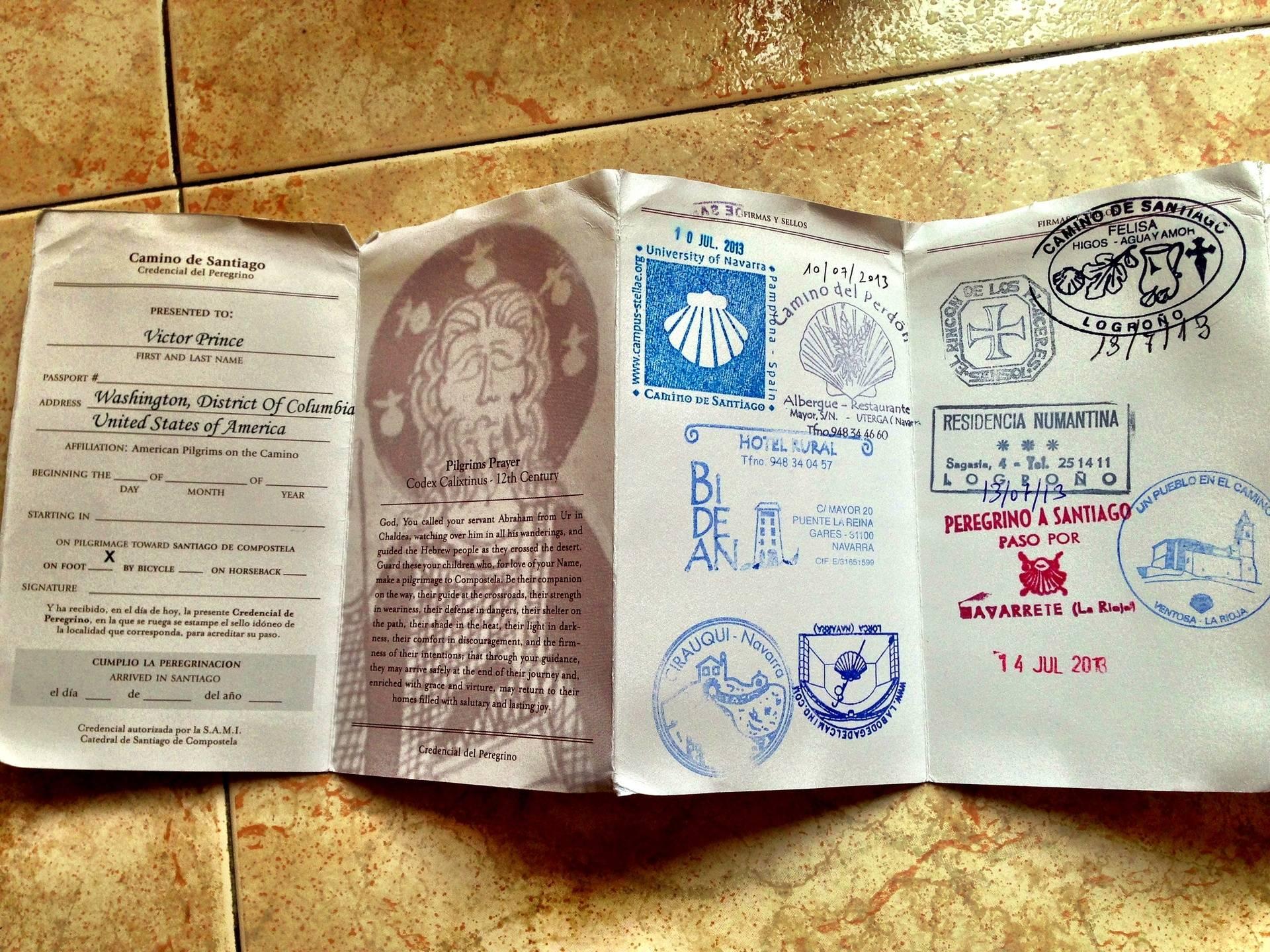 My Camino Passport