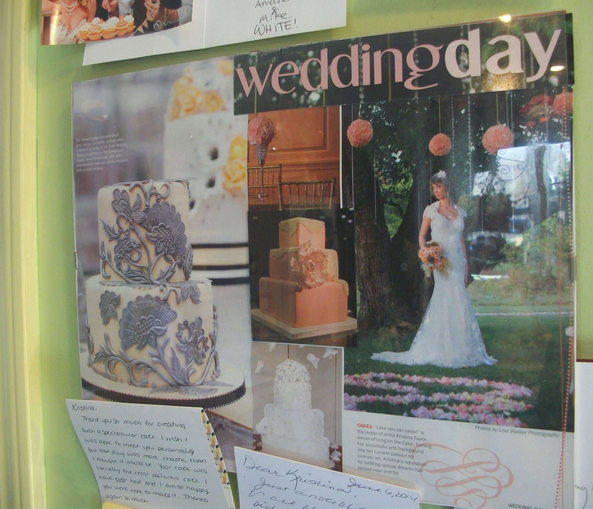 Featured  in Wedding Day Magazine!