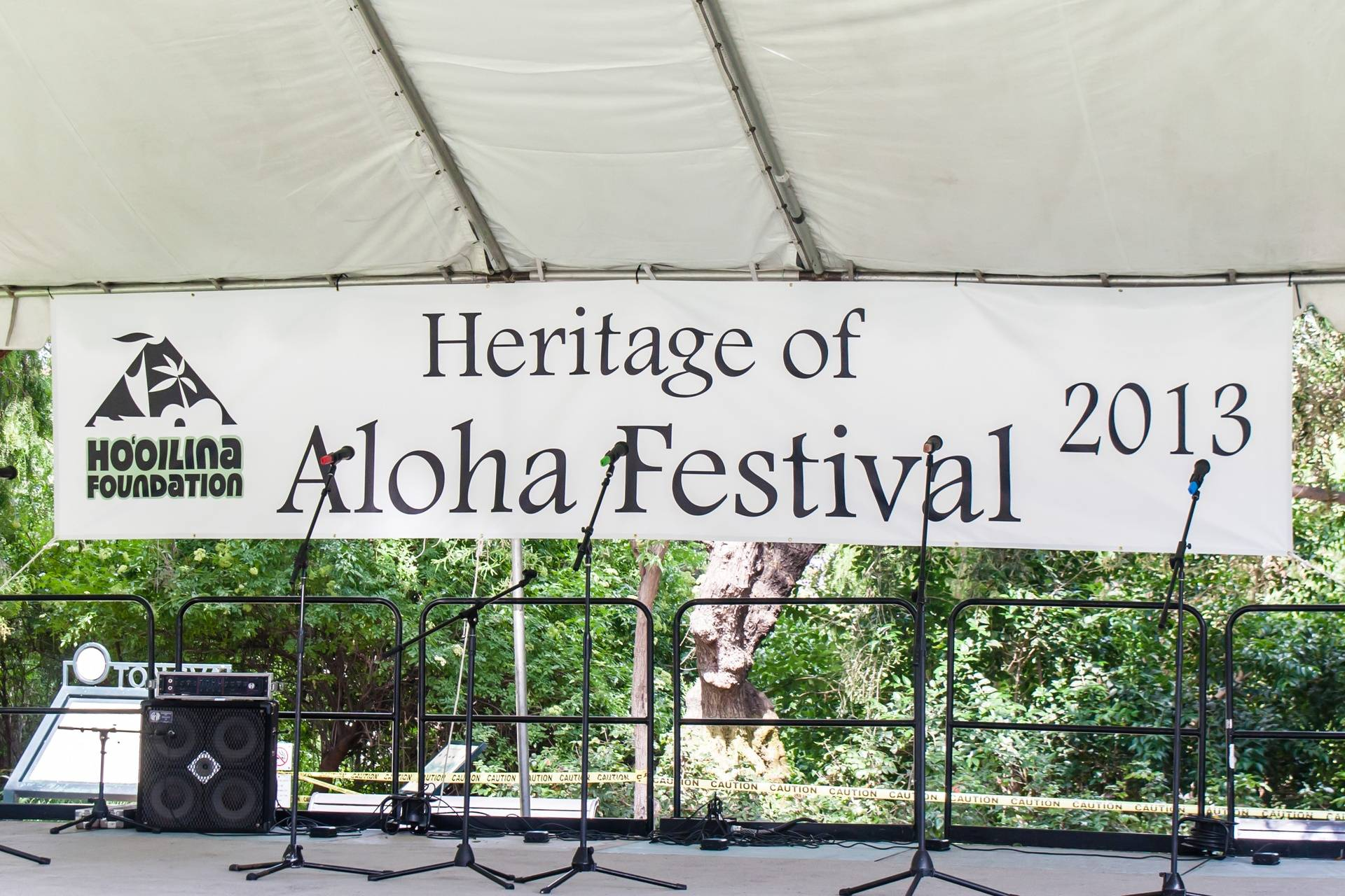 Heritage Of Aloha Festival Event Stage
